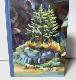 Jennifer Cook-Chrysos Chrysos Designs Artworks, hardcover journal, 6 x 8, coast trees
