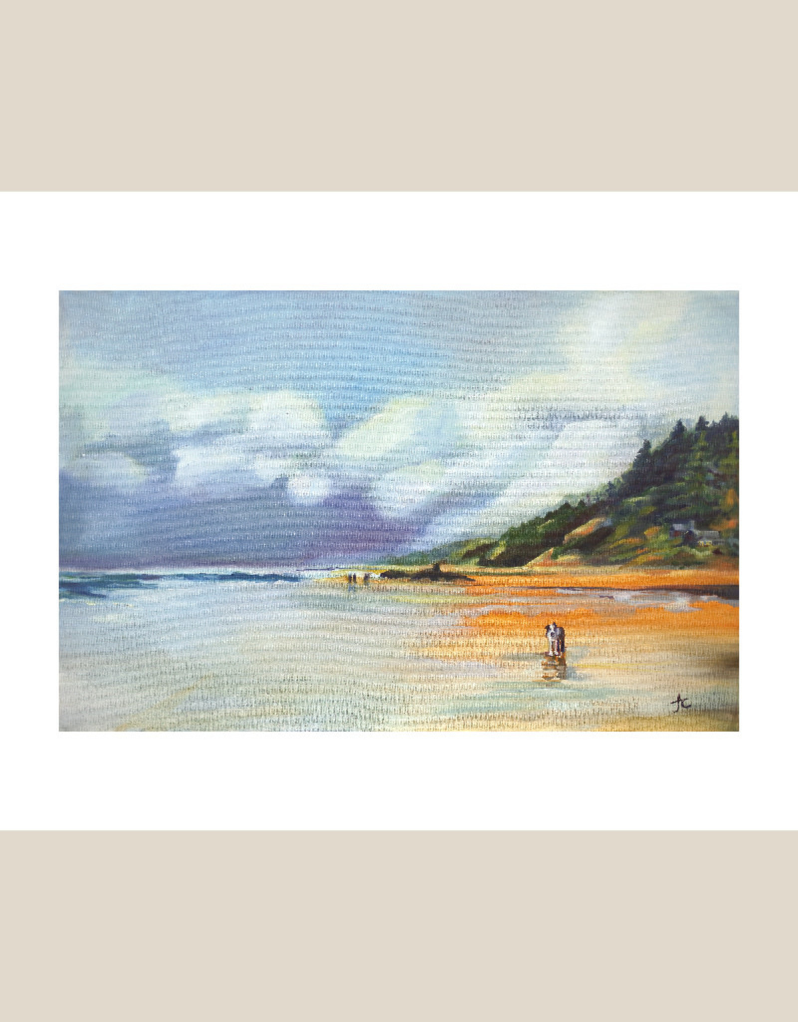 """Jennifer Cook-Chrysos Chrysos Designs Artworks, """"Dog Day at Arch Cape"""",  archival giclee print, 16 x 20"""