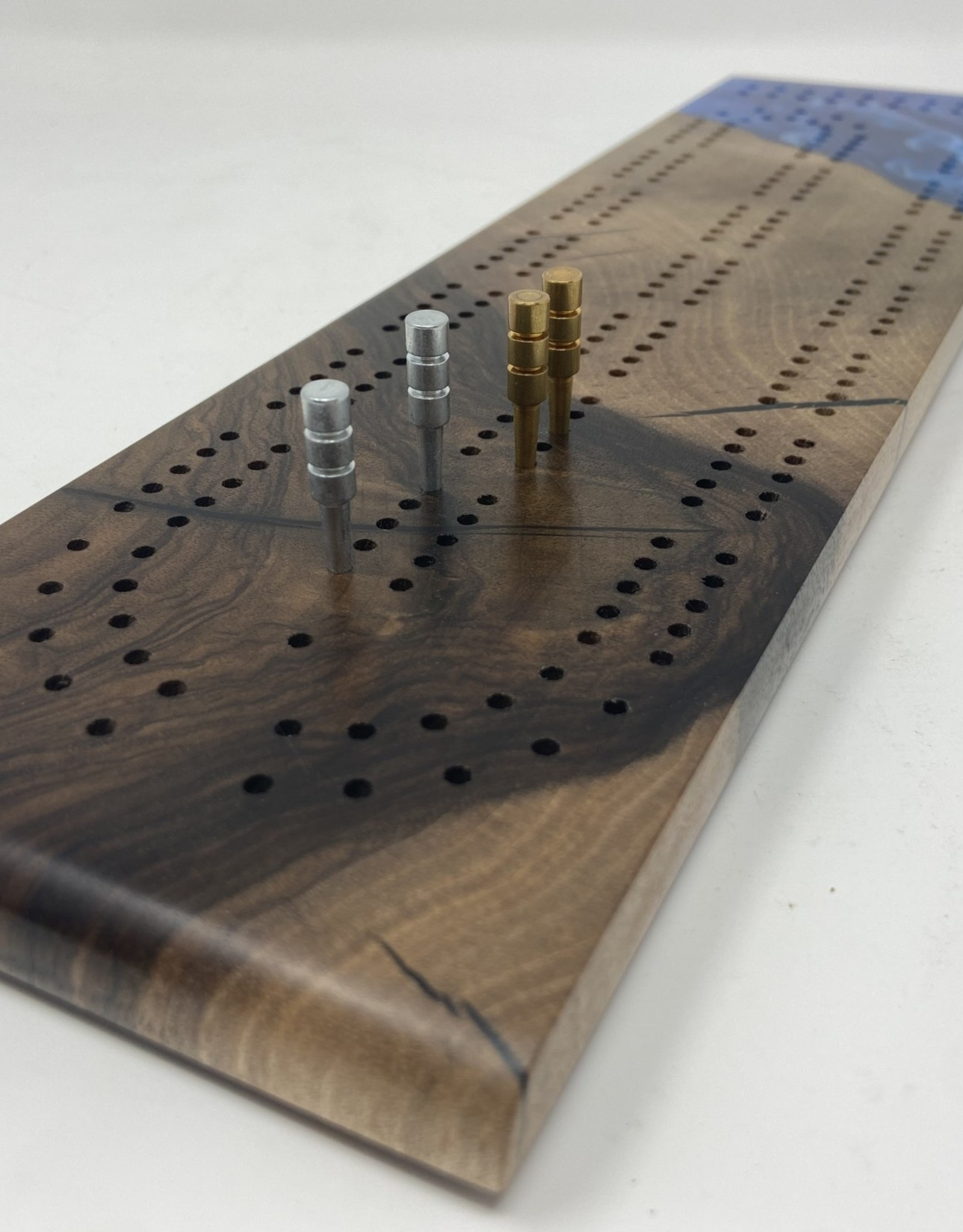 "Mt. Hood Craft - ""High Tide"" Cribbage Board"