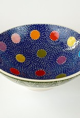 Anshula Tayal Amaati Bowl blue dot Kantha