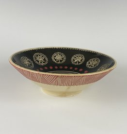 Anshula Tayal Amaati Bowl black and gold Banarasi