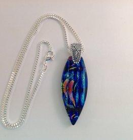 Ann Mackiernan Fused Glass Pendant Large - L27