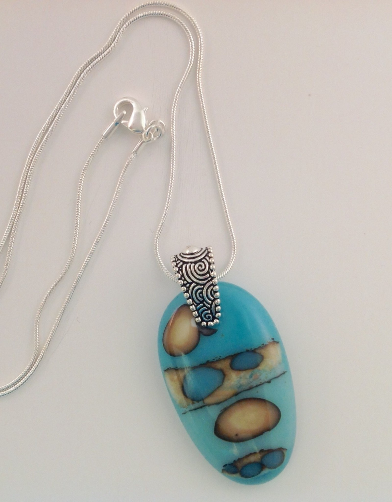 Ann Mackiernan Fused Glass Pendant Large - L29