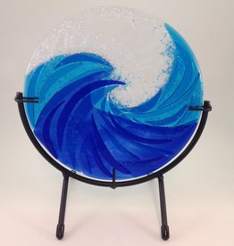 Ann Mackiernan The Wave Fused Glass Sculture