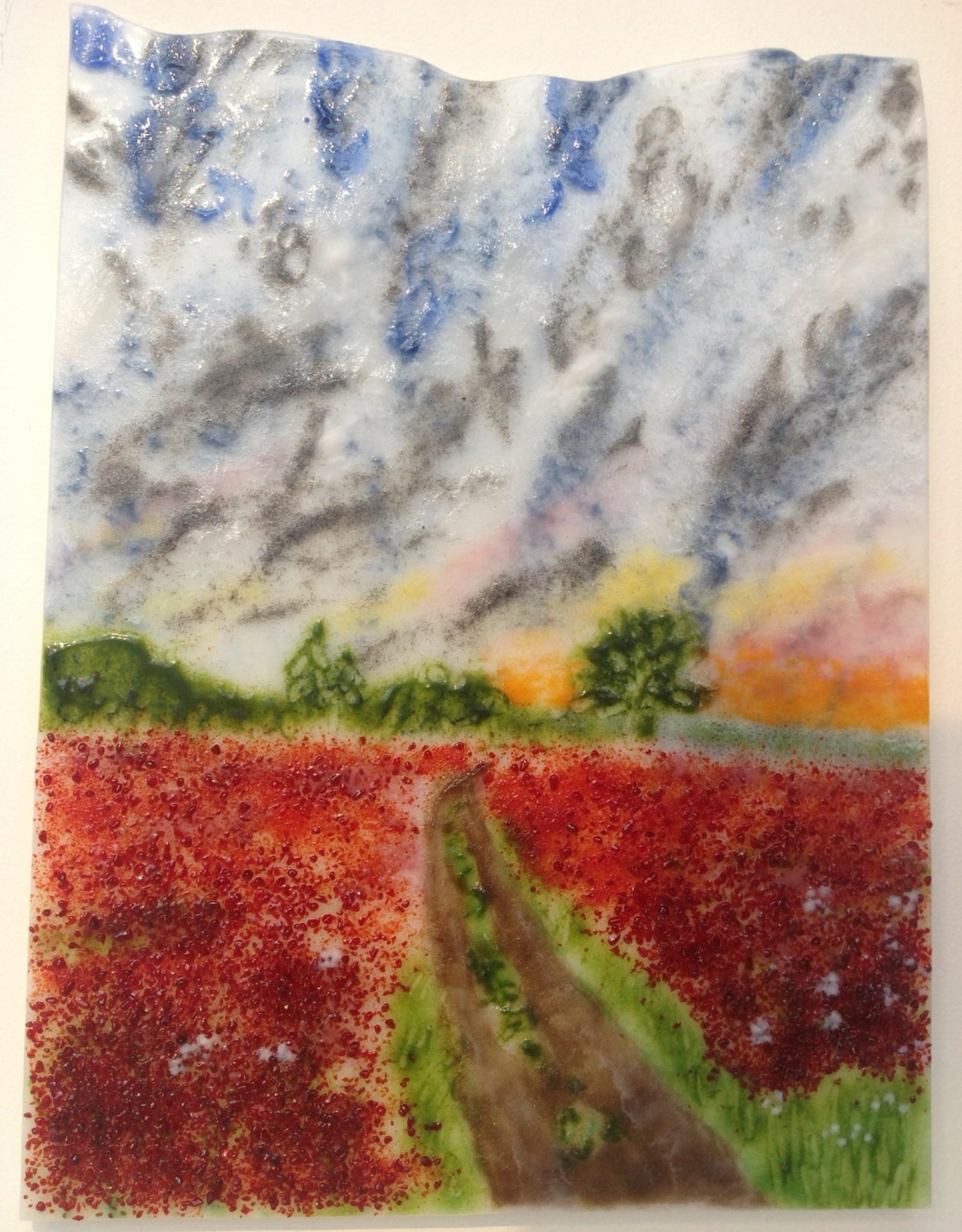 Ann Mackiernan Crimson & Clover: Over & Over Wall Art