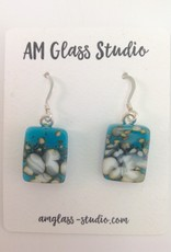 Ann Mackiernan Fused Glass Earrings Large - L16