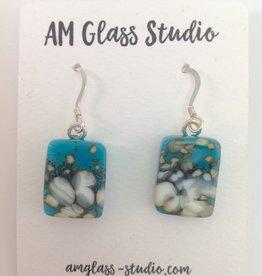 Ann Mackiernan Fused Glass Earrings Large - L16