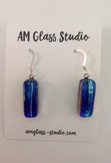 Ann Mackiernan Fused Glass Earrings Medium - M42