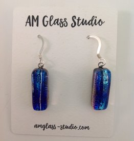 Ann Mackiernan Fused Glass Earrings Medium - M42