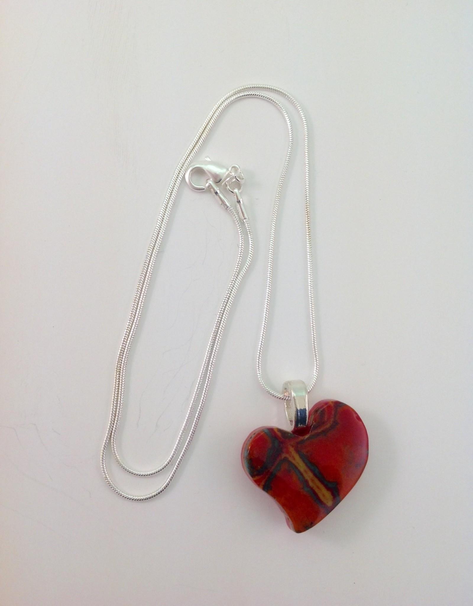 Ann Mackiernan Fused Glass Pendant Medium - M19