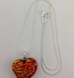 Ann Mackiernan Fused Glass Pendant Medium - M22