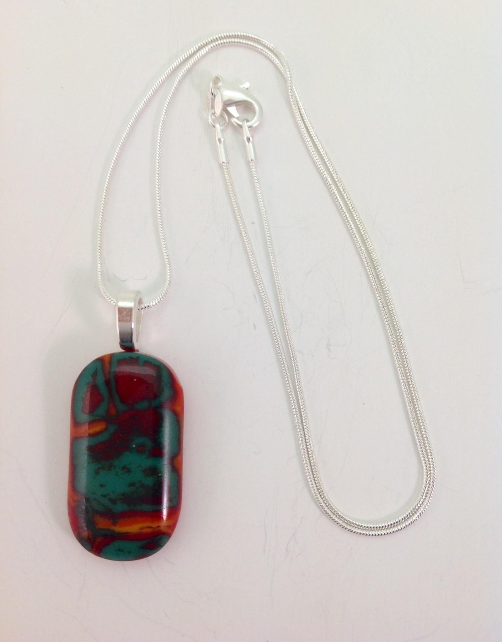 Ann Mackiernan Fused Glass Pendant Medium - M27