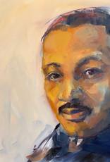 Jennifer Cook-Chrysos Chrysos Designs Artworks, MLK, oil on panel, 8 x 12