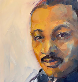 Jennifer Cook-Chrysos Chrysos Designs Artworks, MLK, oil on panel, 8 x 12