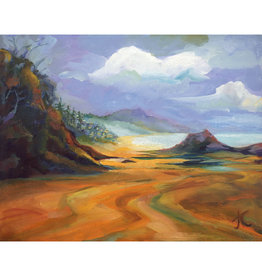 "Jennifer Cook-Chrysos Chrysos Designs Artworks, ""Arch Cape Seascape"", oil on canvas, 20 x 16"