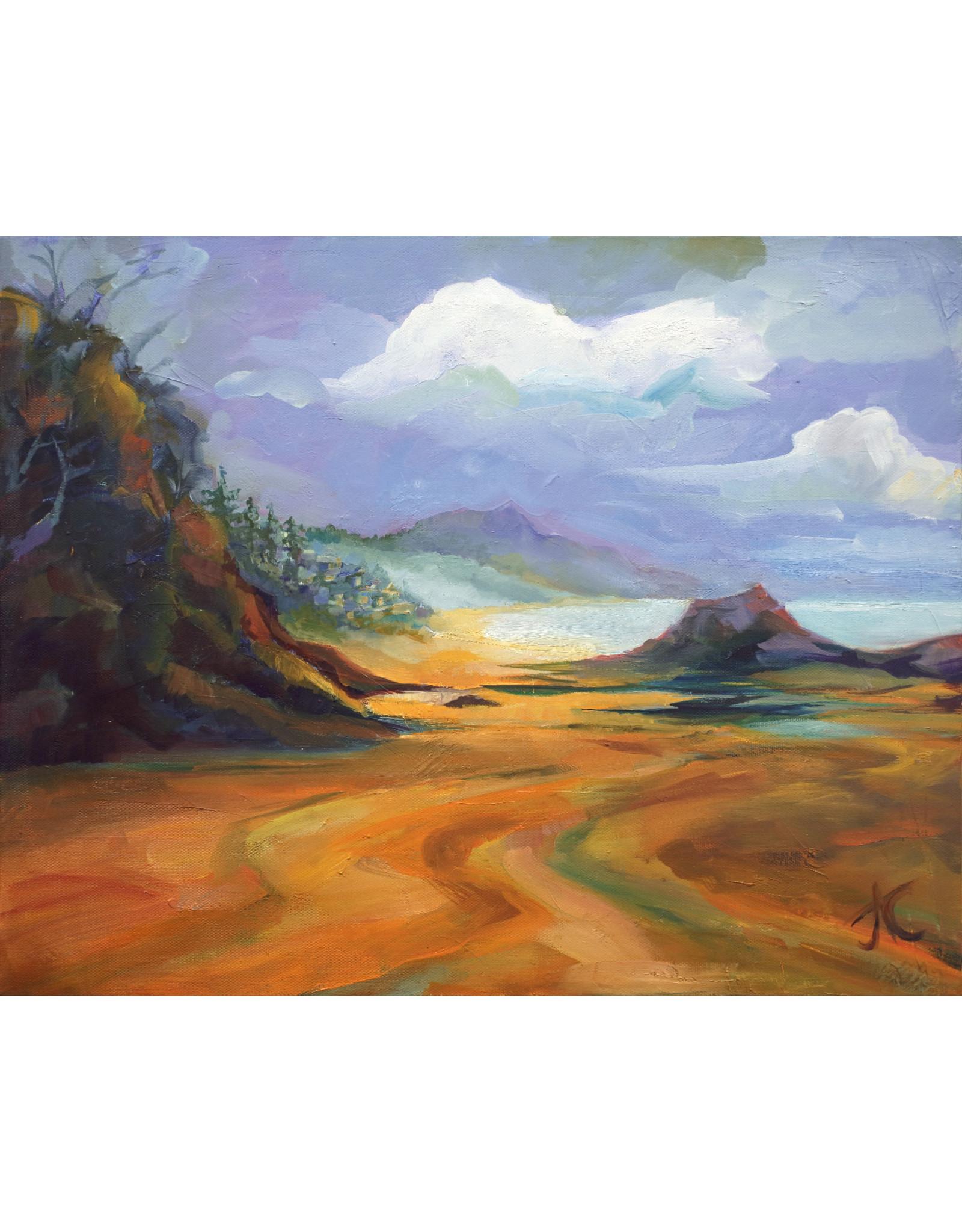 "Jennifer Cook-Chrysos Chrysos Designs Artworks, ""Arch Cape Seascape"",  archival giclee print, 16 x 20"