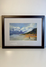 "Jennifer Cook-Chrysos Chrysos Designs Artwork,  archival print, ""Dog Day at Arch Cape"", 6.5 x 8, matted, art frame"
