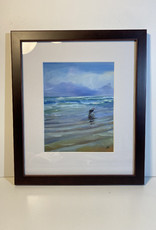 "Jennifer Cook-Chrysos Chrysos Designs Artwork, archival print, ""Dog Dreaming"", 6.5 x 8, matted, art frame"