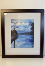 "Jennifer Cook-Chrysos Chrysos Designs Artwork, archival print, ""Willow Bar"", 6.5 x 8, matted, art frame"