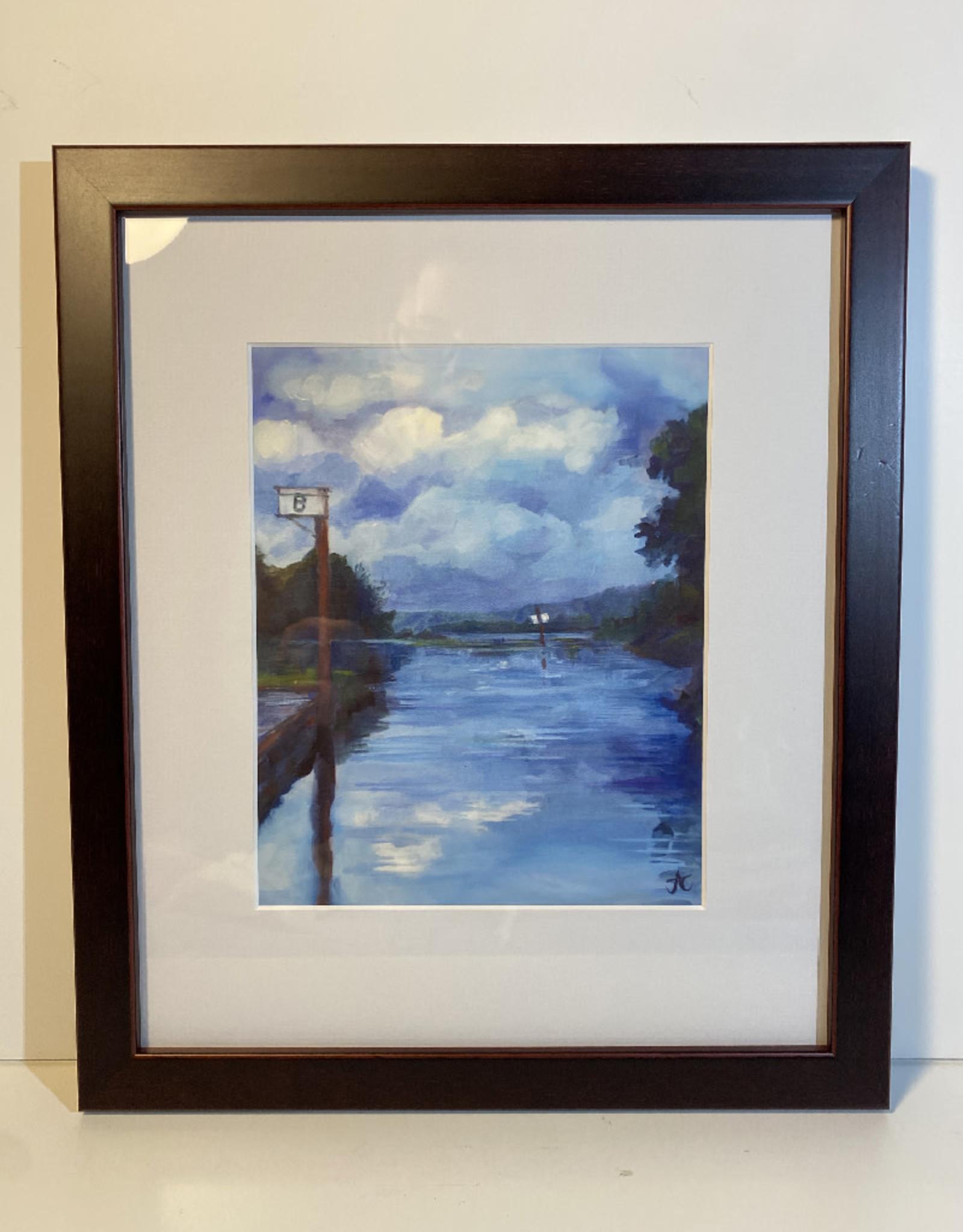 "Jennifer Cook-Chrysos Chrysos Designs Artwork, archival print, ""Willow Bar"", 6.5 x 8, matted, art frame"