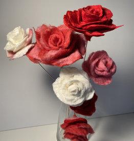 Jennifer Cook-Chrysos Chrysos Designs Artworks, Felted Rose