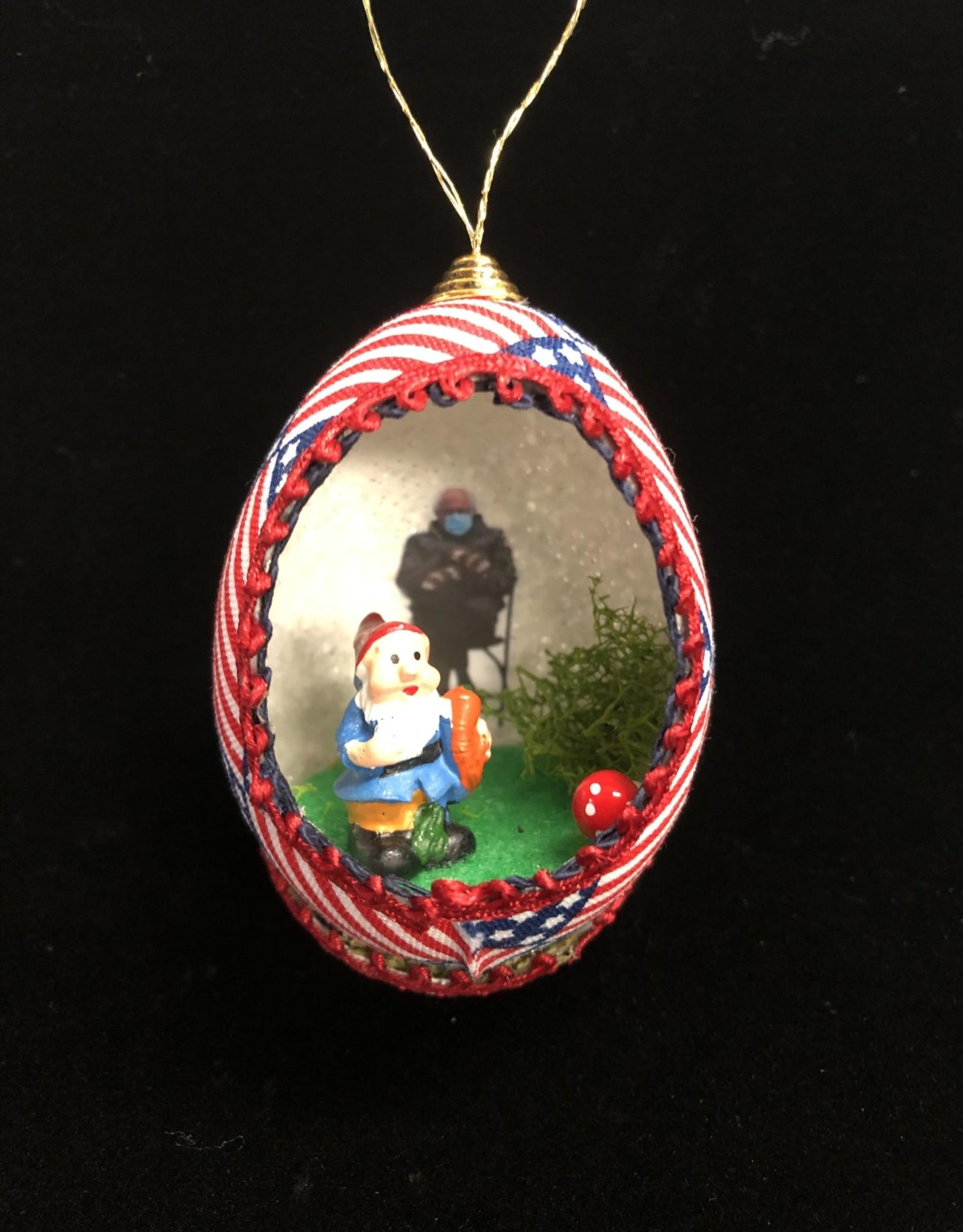 Ammi Brooks Bernie/Gnome Real Egg Ornament