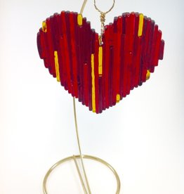Ann Mackiernan Love is in the Air Fused Glass Scupture