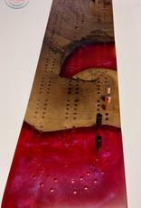 "Ron and Ellie Purvis Mt. Hood Craft - ""Dragon Breath"" Cribbage Board"