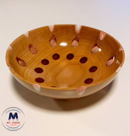 "Ron and Ellie Purvis Mt. Hood Craft - ""Wee One"" - Hand Turned Cherry and Resin Bowl"