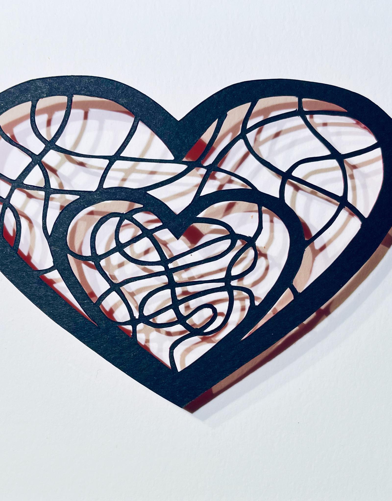 David Friedman Inside Heart - Papercutting