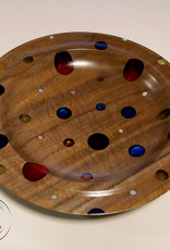 """Ron and Ellie Purvis MHC - """"Primary"""" Black Walnut and Resin Bowl"""