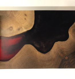 """Ron and Ellie Purvis Mt. Hood Craft - """"Dark and Dusty"""" Wood and Resin Serving Tray"""