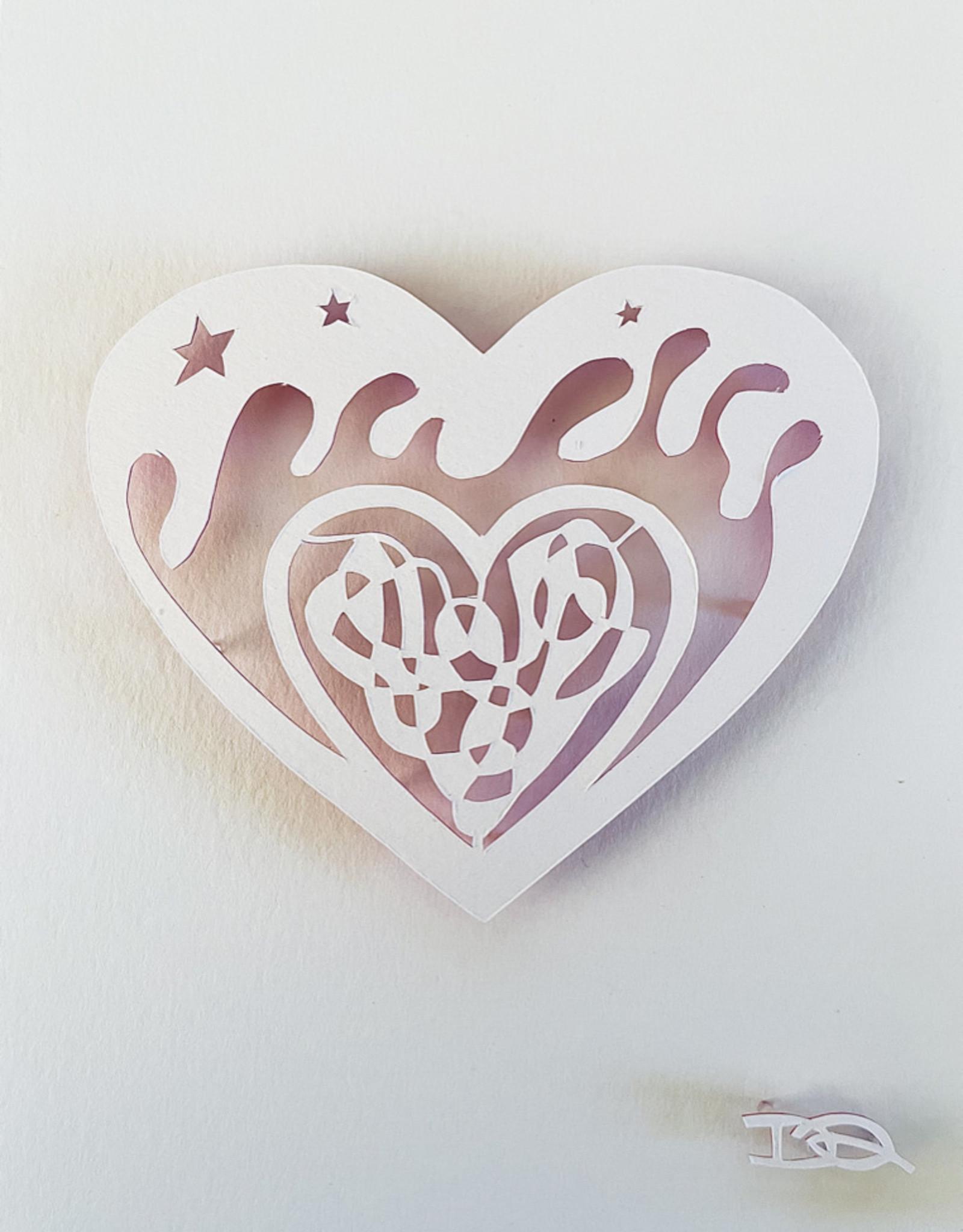 David Friedman White Valentine - Papercutting