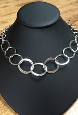 Susan Hunter Bodie/Raw edge link necklace/silver