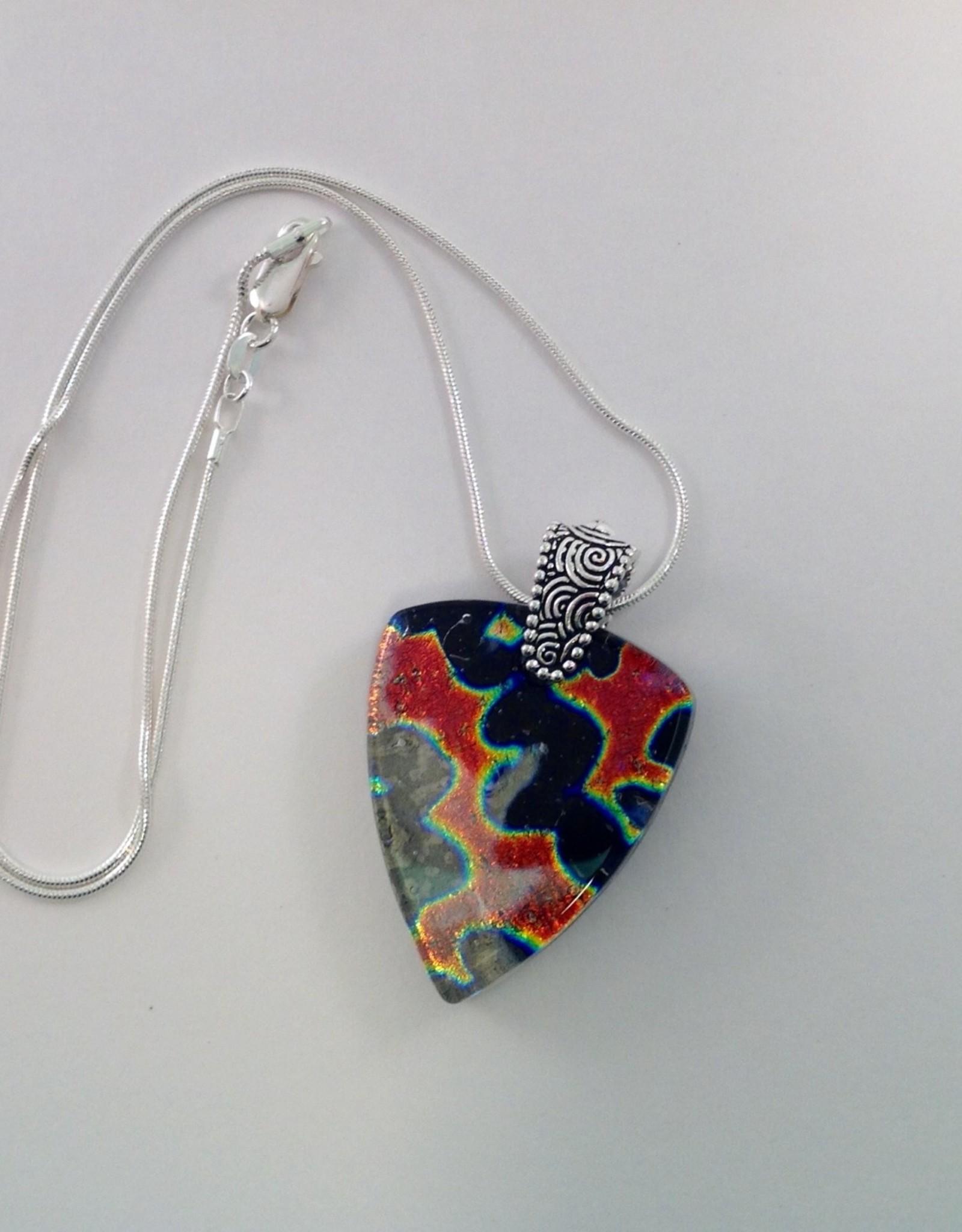 Ann Mackiernan Fused Glass Pendant Large- L32