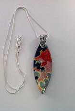 Ann Mackiernan Fused Glass Pendant Large- L33