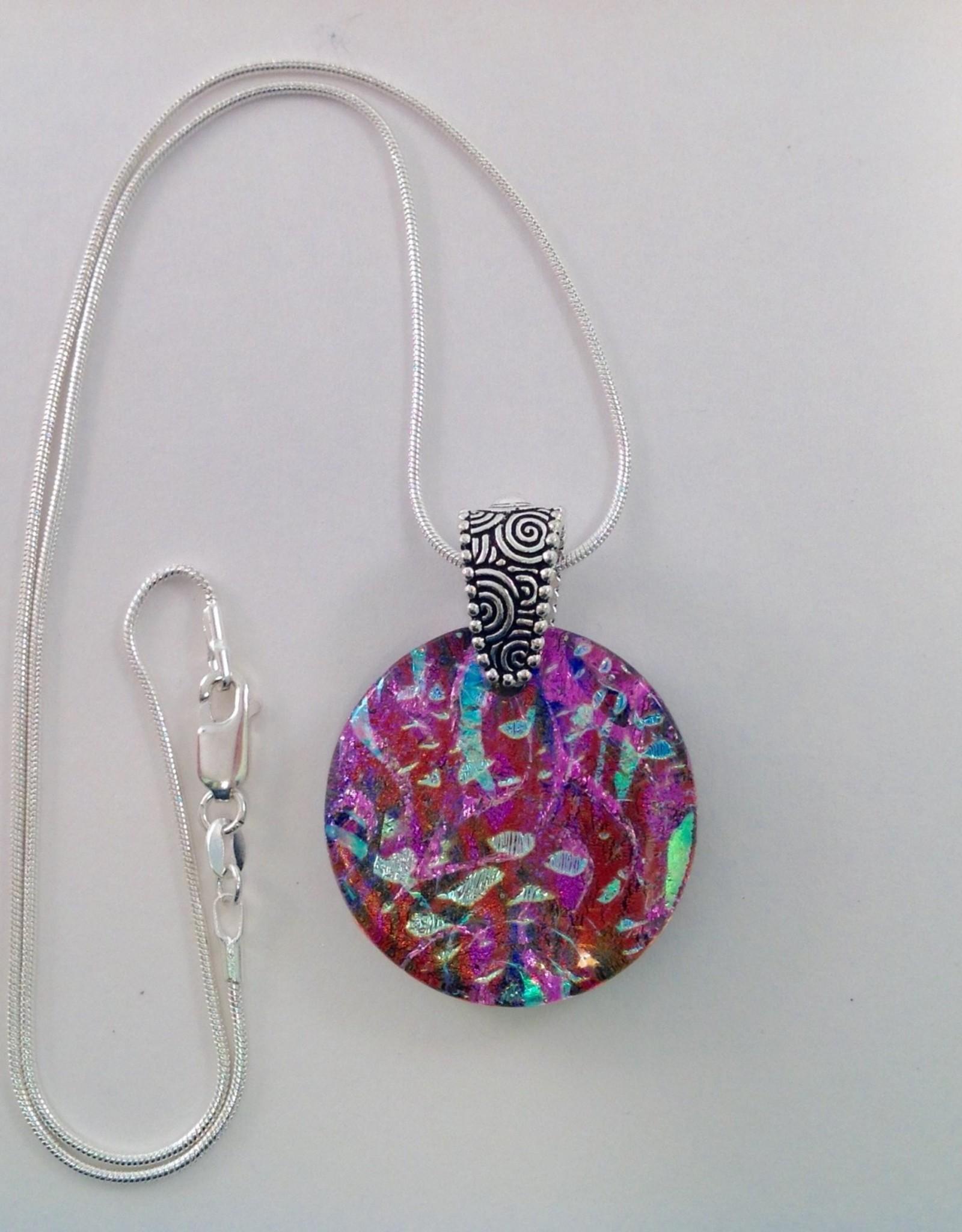 Ann Mackiernan Fused Glass Pendant Large - L34