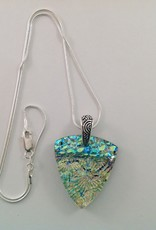 Ann Mackiernan Fused Glass Pendant Large - L35