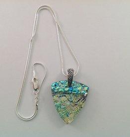Ann Mackiernan Fused Glass Pendant Large - L35