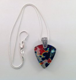 Ann Mackiernan Fused Glass Pendant Medium- M34