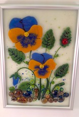 Ann Mackiernan Botanical Wall Art- Pansy
