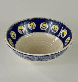 Anshula Tayal Amaati blue and yellow flower bowl