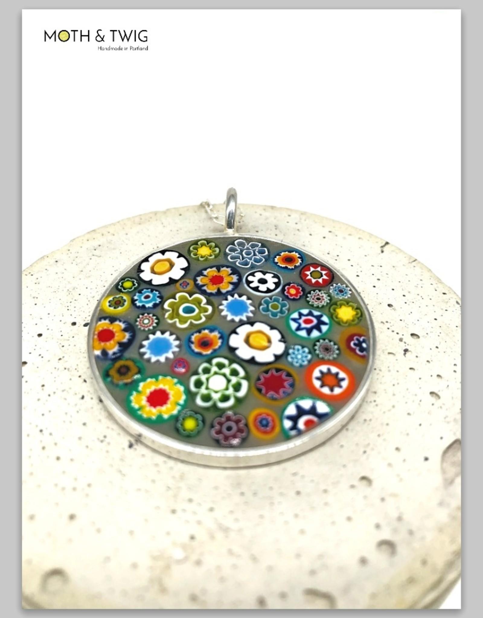June Martin Bloom Mosaic Pendant