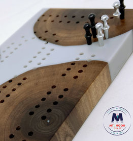 """Ron and Ellie Purvis MHC - """"Karl"""" Cribbage Board"""