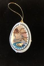Ammi Brooks Beatrix Mamma/baby Real Egg Ornament