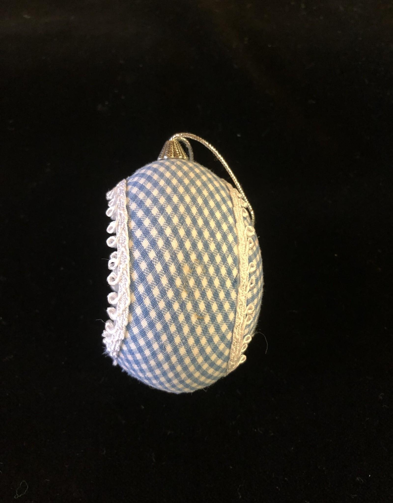 Ammi Brooks Alice/Rabbit Real Egg Ornament