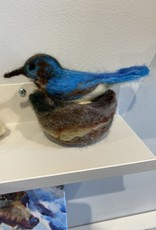 Jennifer Cook-Chrysos Chrysos Designs Artworks, hummingbird in nest, 2 eggs