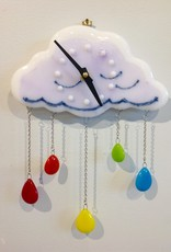 Ann Mackiernan Liquid Rainbow Wall Clock