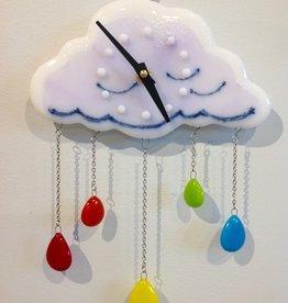 Ann Mackiernan Liquid Rainbow Wall Clock