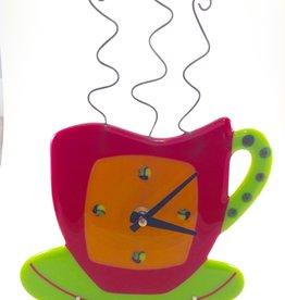Ann Mackiernan Coffee Break Wall Clock- Red